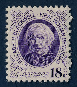 Elizabeth Blackwell on a  US postage stamp