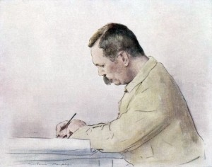 Picture of Sir Arthur Conan Doyle by artist Mortimer Menpes